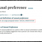 Sexual Preference v. Sexual Orientation: Control the Language … Control the Issue